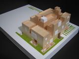 成城の集合住宅模型